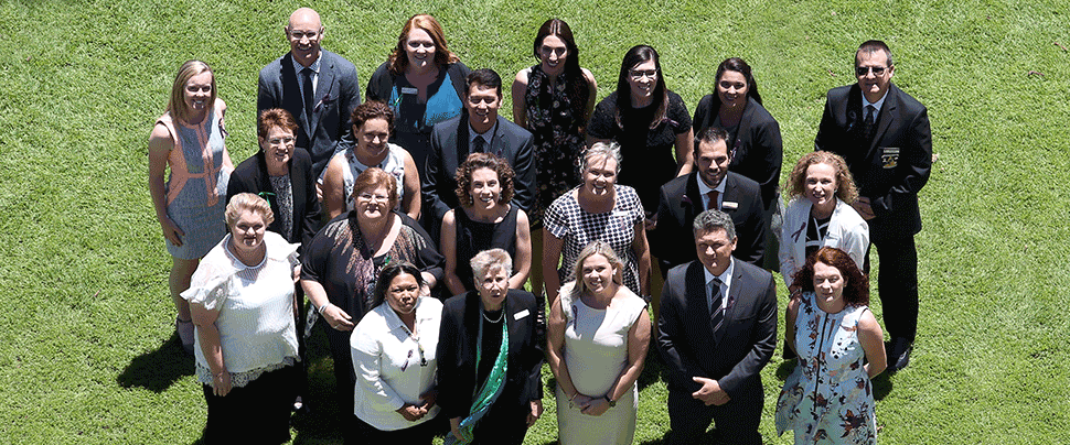 Group photo of QCT Excellence in Teaching Awards finalists